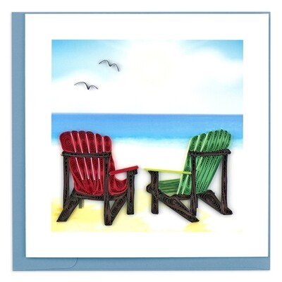 Quilling Cards - adirondack chairs