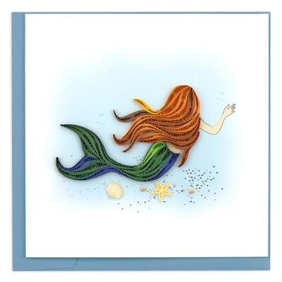 Quilling Cards - mermaid