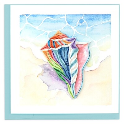 Quilling Cards - Rainbow Conch Shell