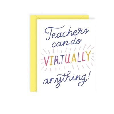 Teachers Virtually Card