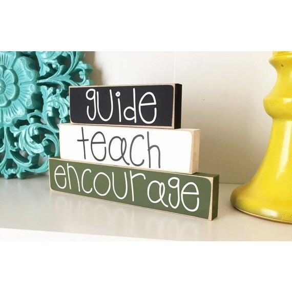 Teach Guide Encourage Sign