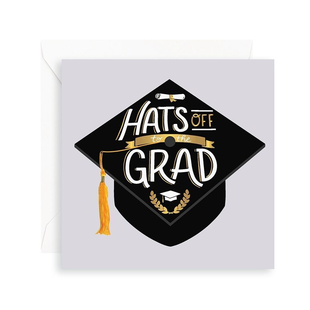 Hats Off Grad Pop Up Card