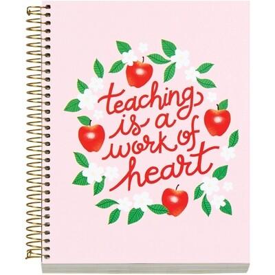 Teacher Work of Heart Spiral Notebook