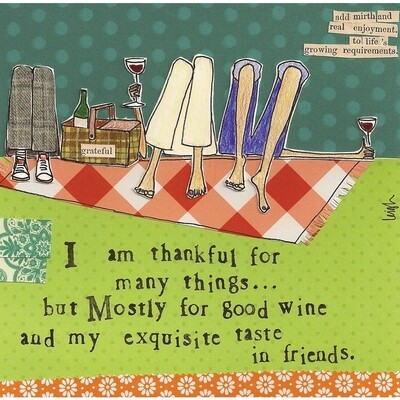 Cocktail Napkin Thankful For
