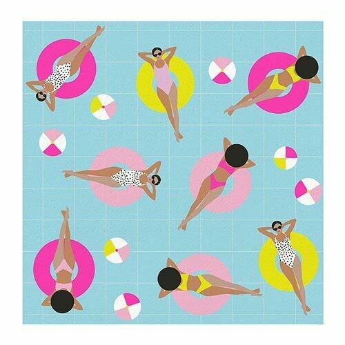 Cocktail Napkin - Pool Girls