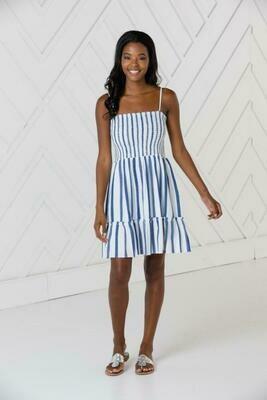 Sail to Sable Stripe Strap Dress