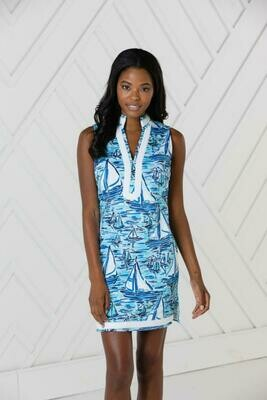 Sail to Sable Blue Boat Tunic