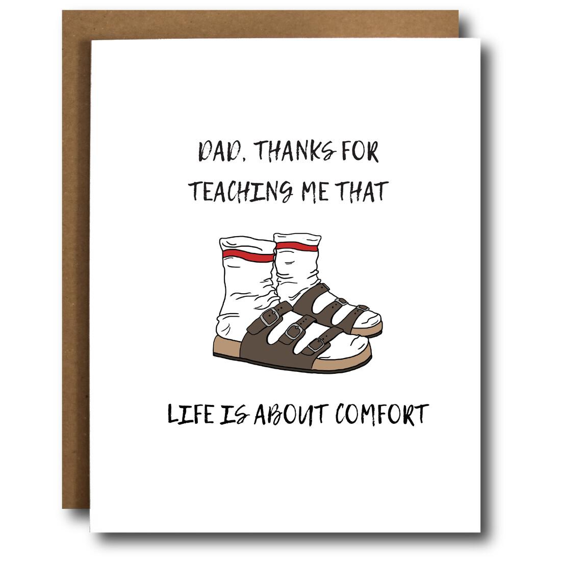 Dad Comfort Card