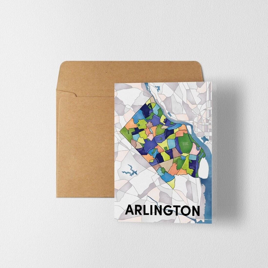 Arlington Map Greeting Card