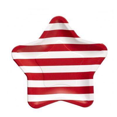 Americana Star Paper Plates