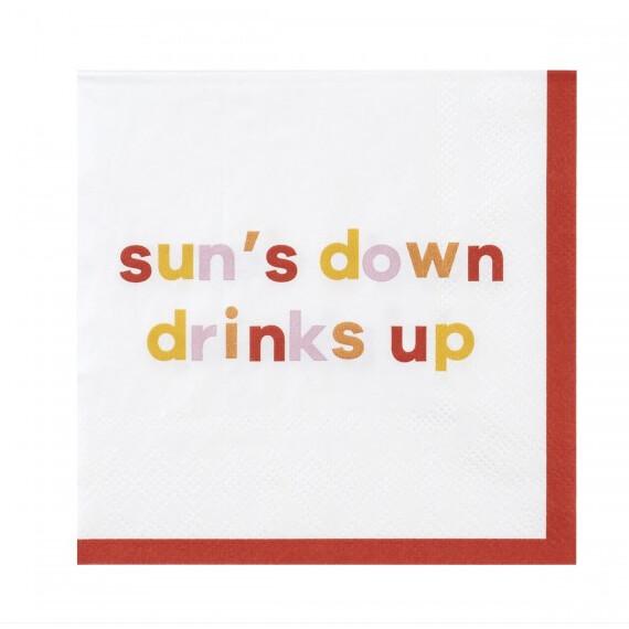Cocktail Napkin - Sun's Down