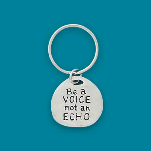 Be a Voice Quote Keychain