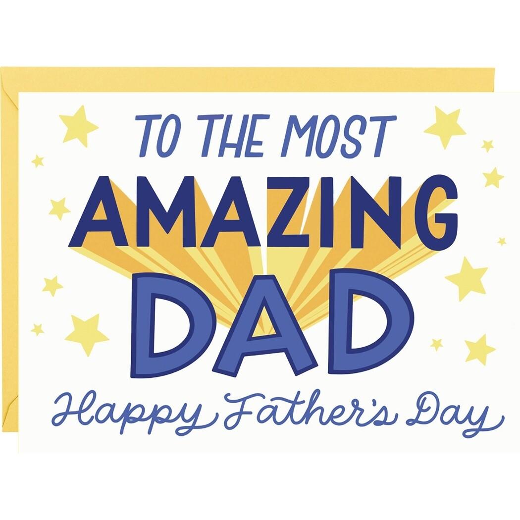 Most Amazing Dad Card