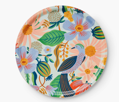 RIfle Paper Marguerite Plywood Round Tray