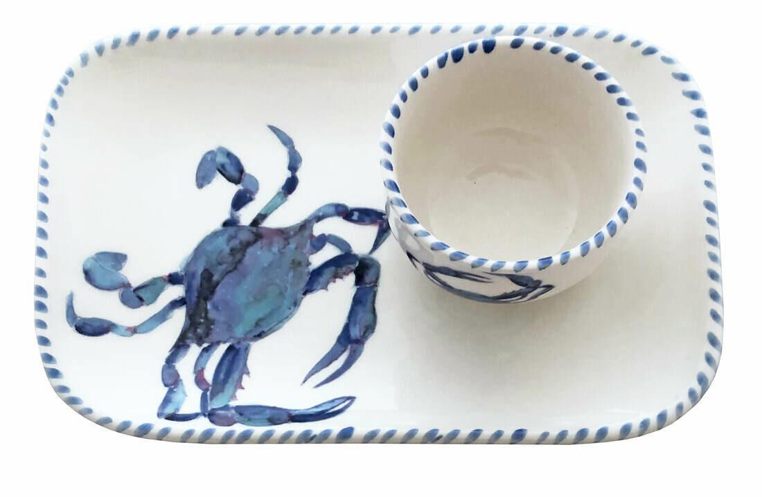 AT Crab Plate & Dip Bowl