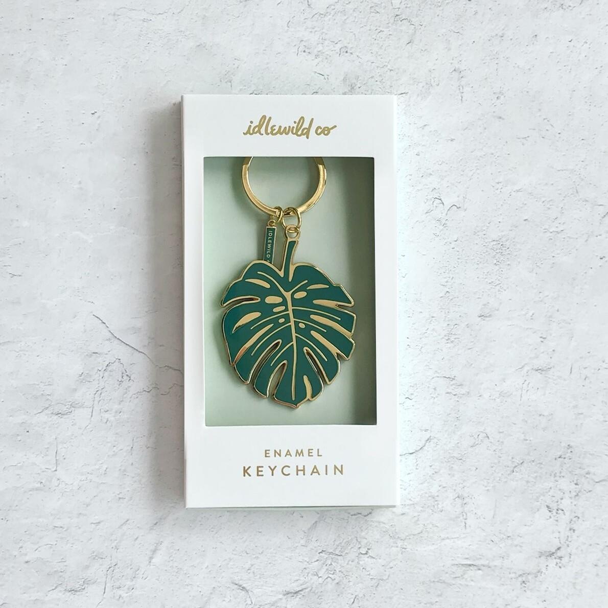 Idlewile Palm Leaf Keychain