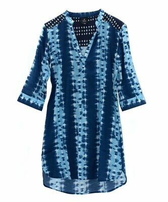 Echo Blue Tie Dye Tunic Cover Up