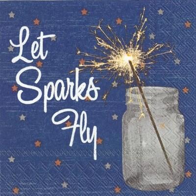 Cocktail Napkin - Let Sparks Fly