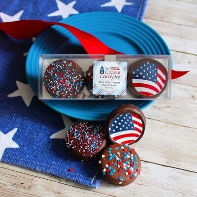 CCJ Chocolate Covered Oreos Patriotic
