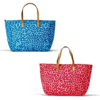 Leopard Print Jute Bag