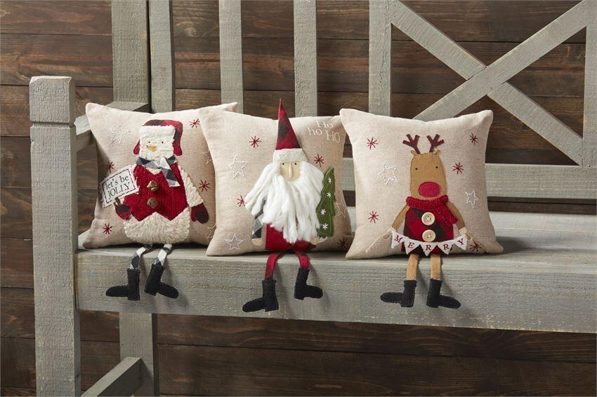 Christmas Dangle Leg Pillow