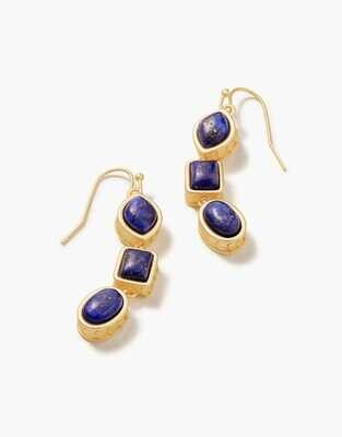 Spartina Naia Linear Drop Earrings Lapis