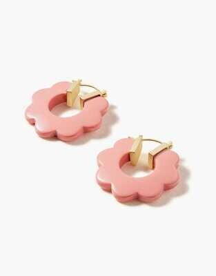 Spartina Mod Daisy Hoop Earrings Pink