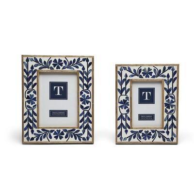 Bone Blue Floral Frame