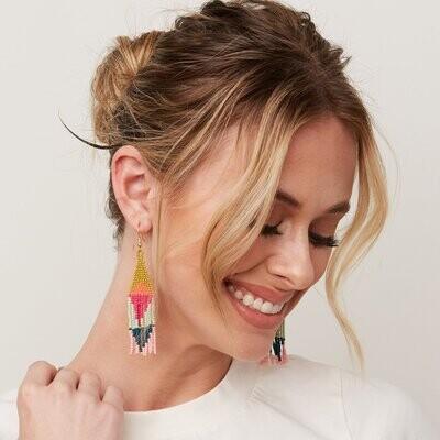 Ink + Alloy Beaded Diamond Earrings