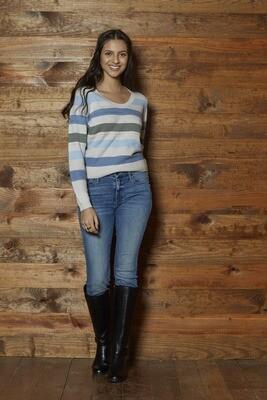 SWTR Scoop Stripe Sweater