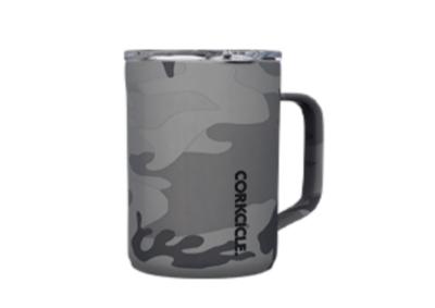 Corkcicle - Mug - 16oz Grey Camo