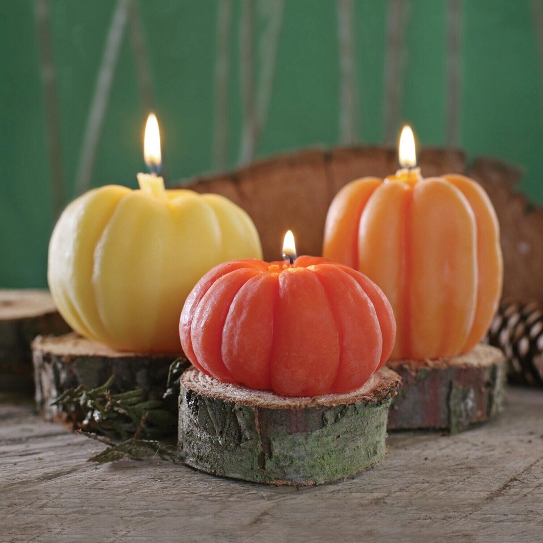 Beeswax Pillar Candles - Pumpkins
