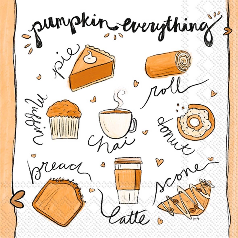 Cocktail Napkin - Pumpkin Everything