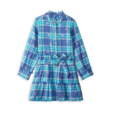 Hatley Plaid Button Dress