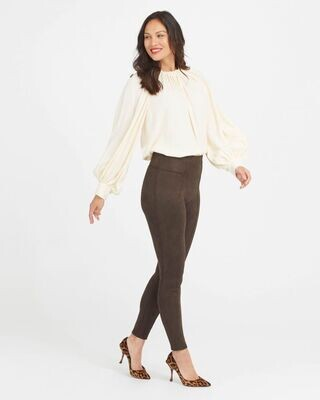 Spanx Faux Suede Leggings Chocolate