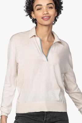 Lilla Polo Pullover Sweater - Oat