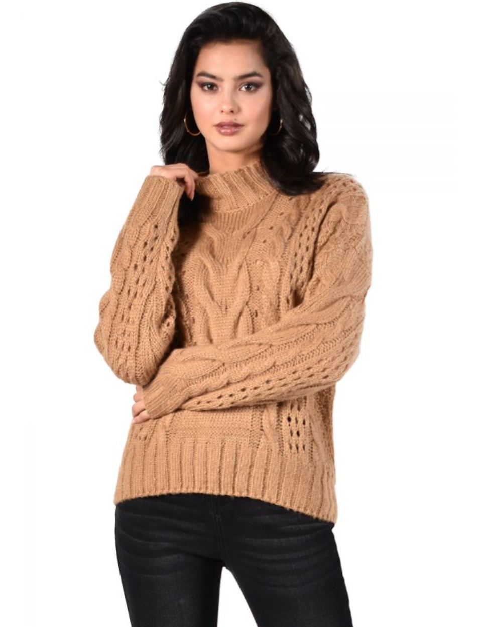Frank Camel Knit Sweater