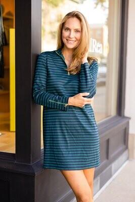 Sail to Sable Hunter Stripe Zip Dress