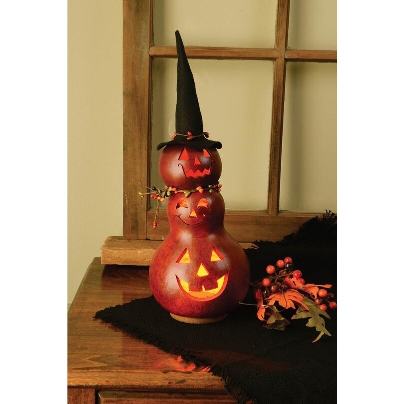 Reba Witch Tall Handcrafted Gourd