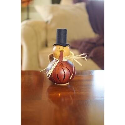 Teddy Mini Turkey Hand-Crafted Gourd