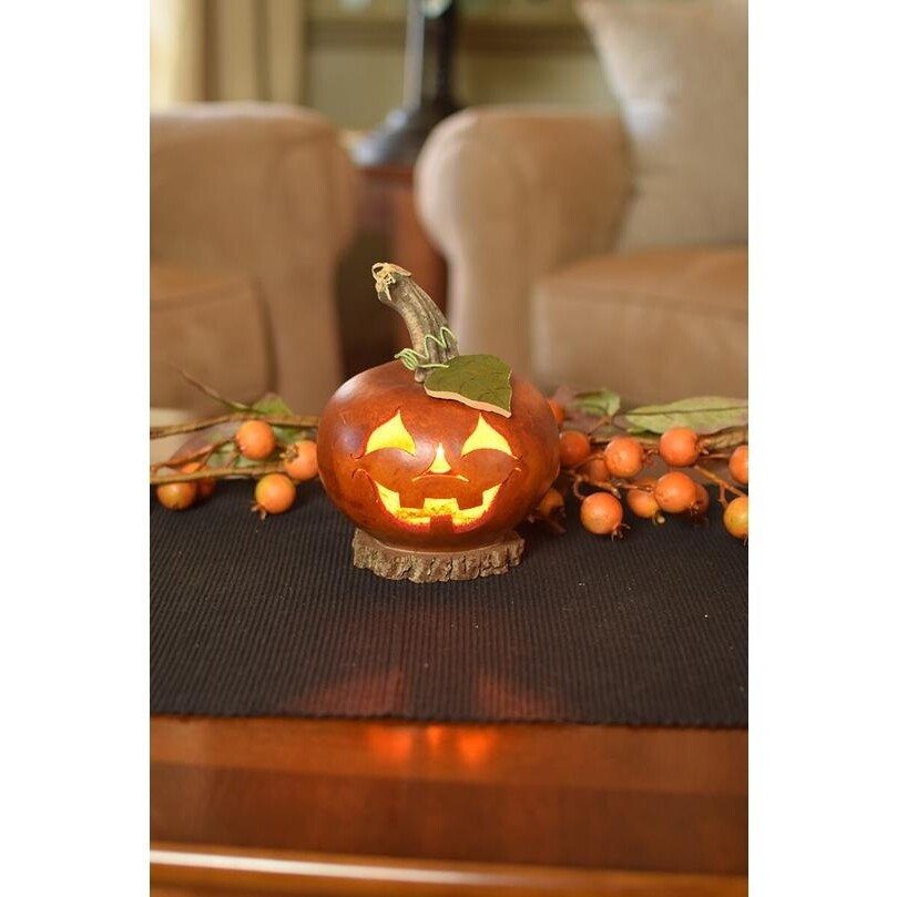 Lucas Jack O'latern Small Handcrafted Gourd