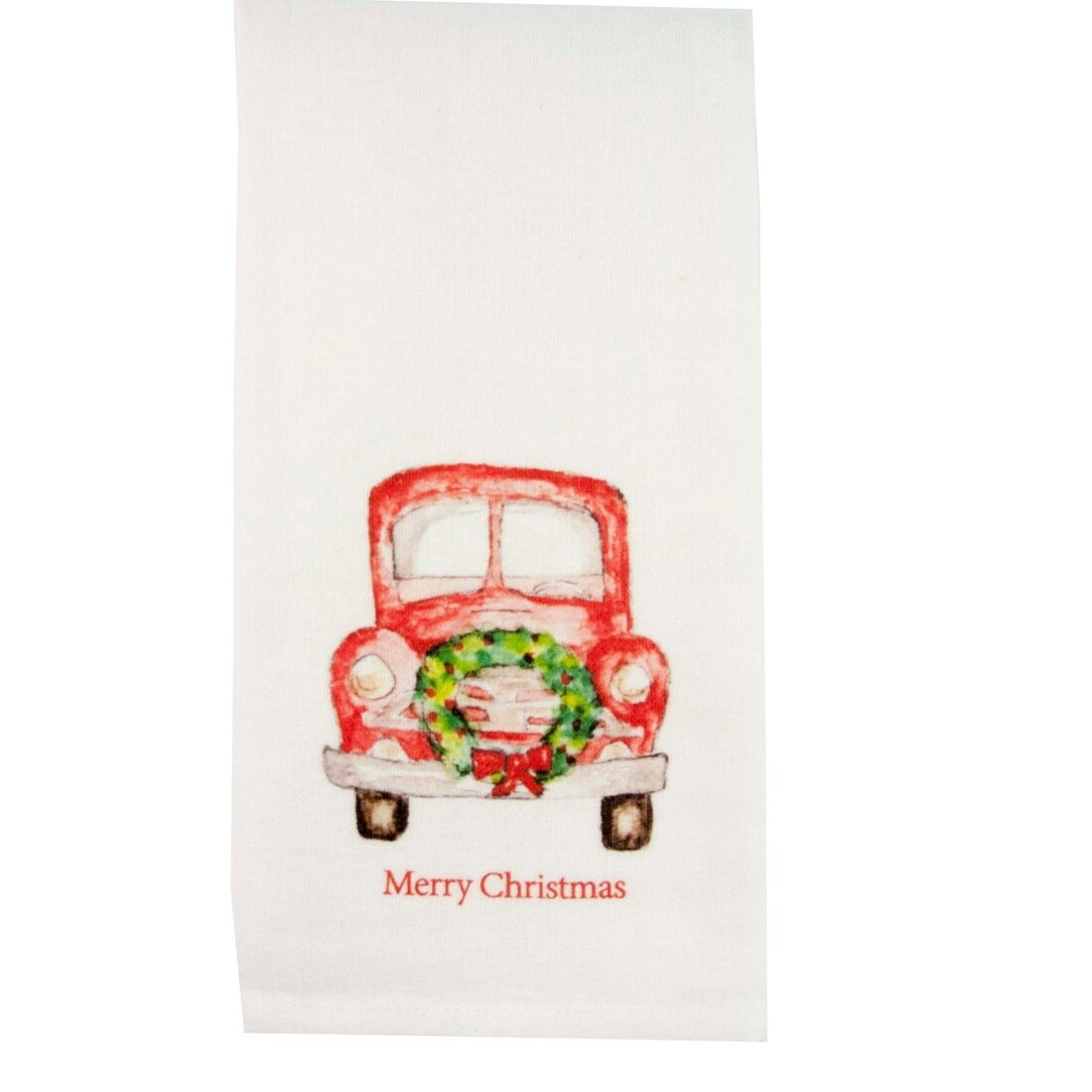 Red Truck w/ Wreath Dish Towel