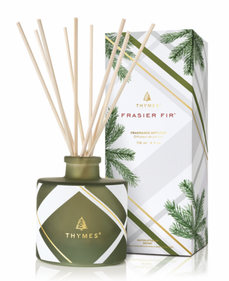 Thymes Frasier Fur Frosted Plaid Petite Diffuser