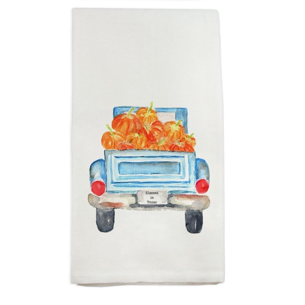 Pumpkin Truck Tea Towel