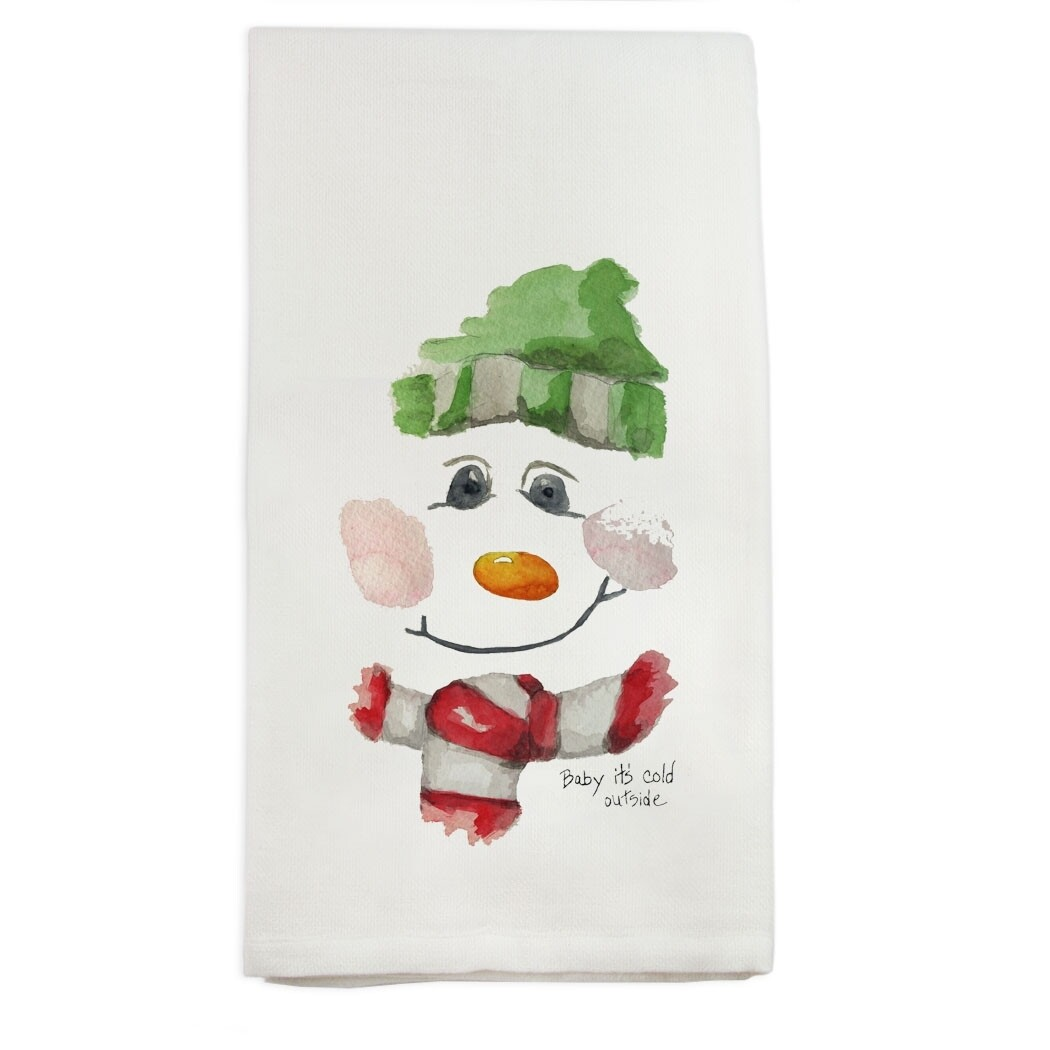 Snowman Face Dishtowel