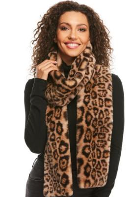 Le Mink Leopard Scarf