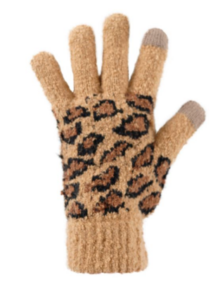 Fab Fur Leopard Gloves