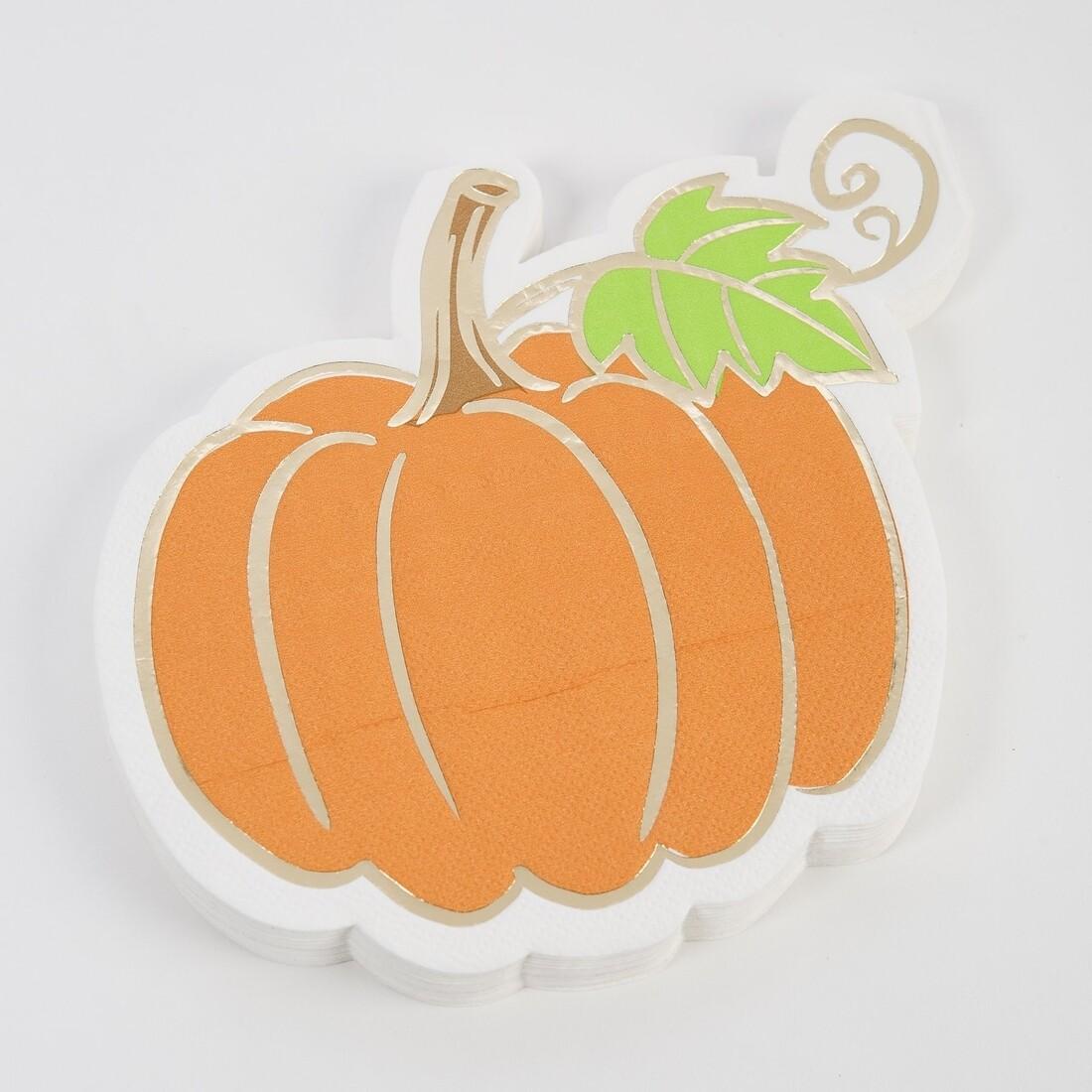 Pumpkin Die Cut Napkin