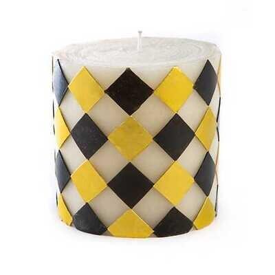 MacKenzie Harlequin Pillar Candle 5