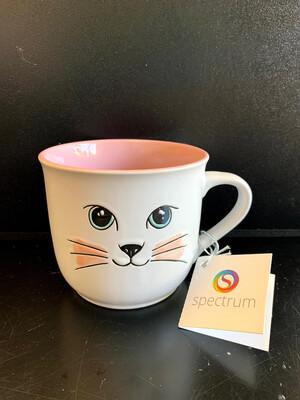Coffee Mug-Cat Face Pastels